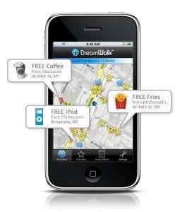 DreamWalk app image on iPhone