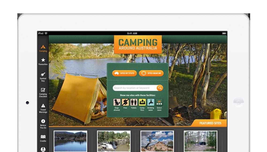 App developers Australia - Camping