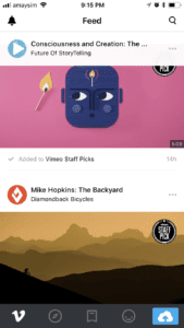 Vimeo app for iOS