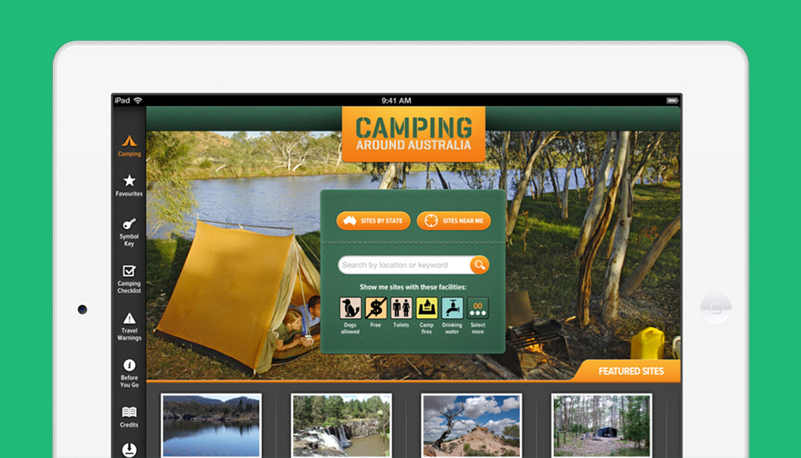 App developers Australia - Camping