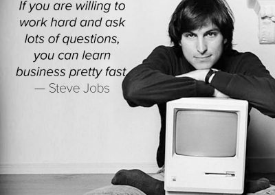 Steve-Jobs-learn-business-pretty-fast-quote