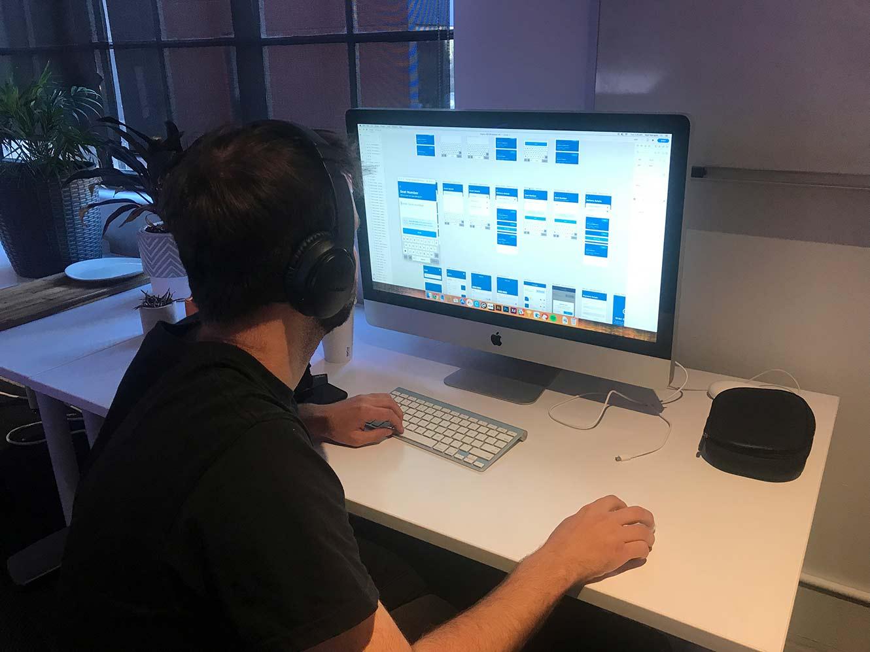 mobile UX designer at work at DreamWalk