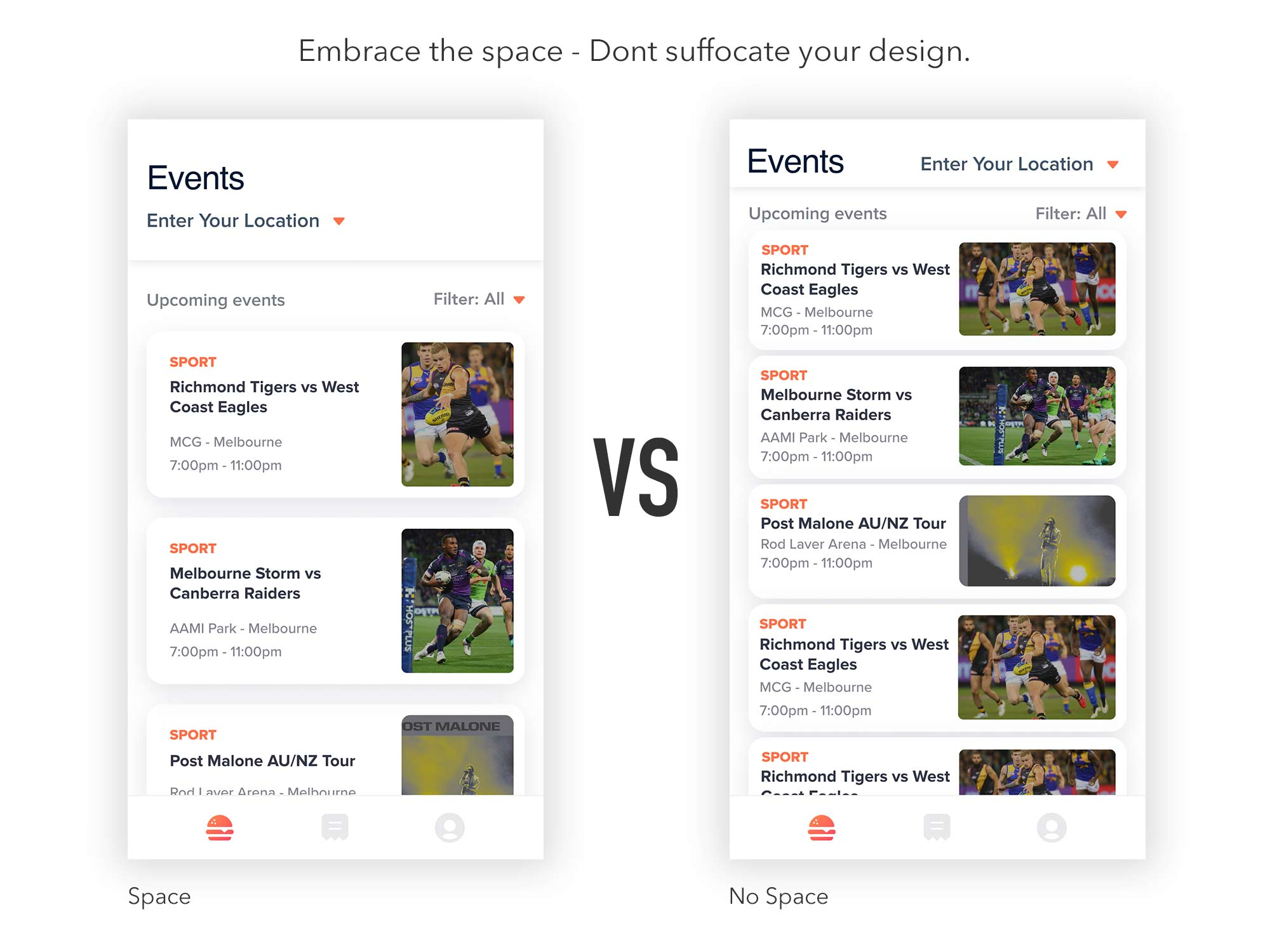 Embrace the space - UI Designers