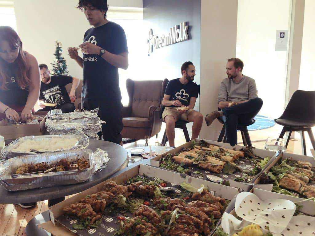 DreamWalk Christmas Party feast