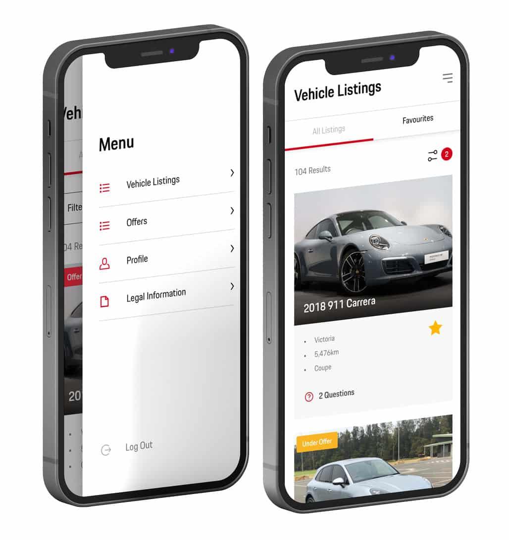 Porsche-app-screenshots